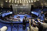 Plenário do Senado Federal durante sessão deliberativa extraordinária para votar a Denúncia 1/2016, que trata do julgamento do processo de impeachment da presidenta afastada Dilma Roussefff
