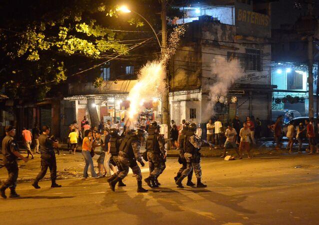Conflito na desocupação da Favela do Metrô-Mangueira no Rio