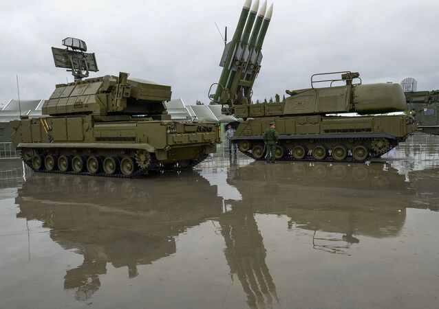 Sistema de defesa antimíssil Buk-M1, Rússia (foto de arquivo)
