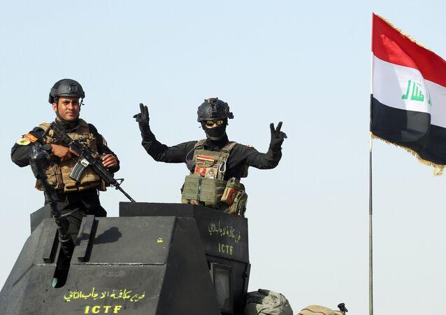 Militares do Serviço antiterrorista iraquiano na província de Anbar (foto de arquivo)