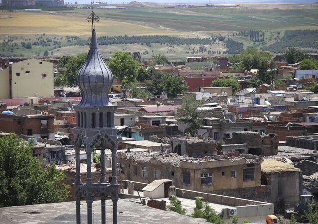 Distrito histórico de Diyarbakir, sudeste da Turquia