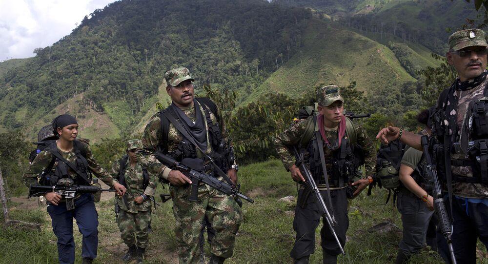 Militantes das FARC na Colômbia