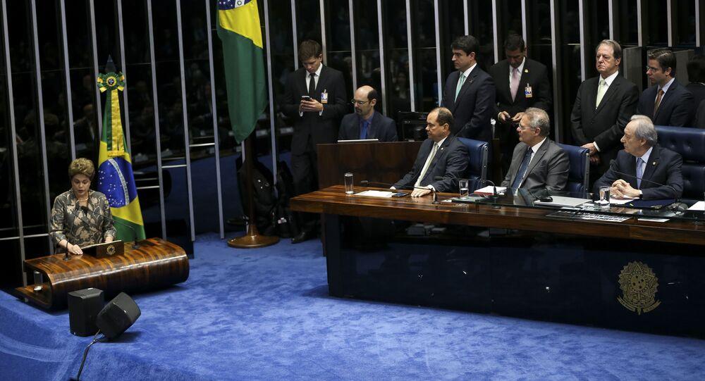 Dilma comparece ao Senado para sessão de depoimento