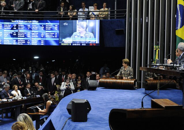 Dilma faz sua defesa no plenário do Senado