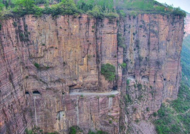 O túnel de Guoliang na China Central