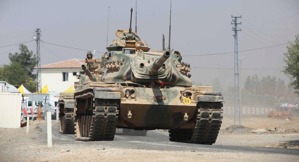 Tanque do exército turco enviado para a Síria (imagem referencial)