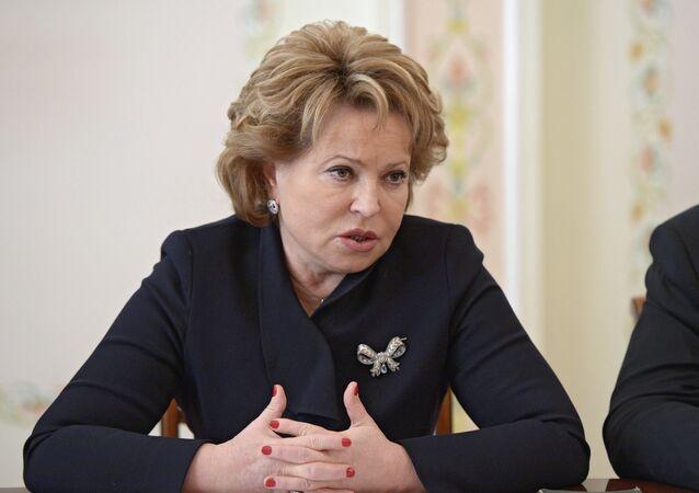 Valentina Matviyenko, presidente do Conselho da Federação Russa