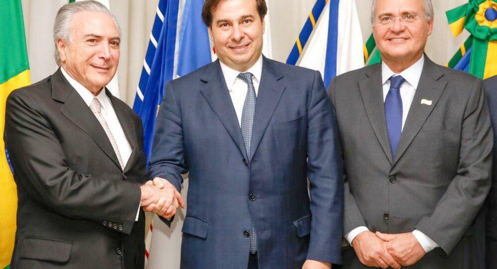 Temer repassa interinamente a Presidência da República ao Presidente da Câmara dos Deputados, Rodrigo Maia