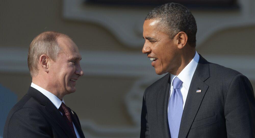 O presidente russo, Vladimir Putin, e o presidente Dos EUA, Barak Obama