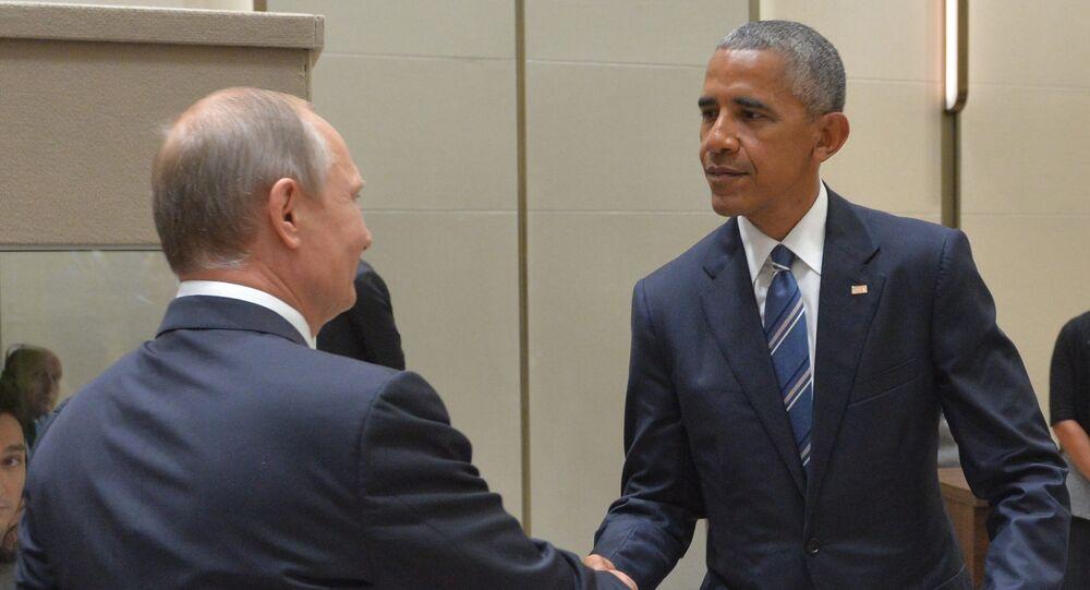 Presidentes de Rússia e Estados Unidos durante encontro na cúpula do G20 em Hangzhou