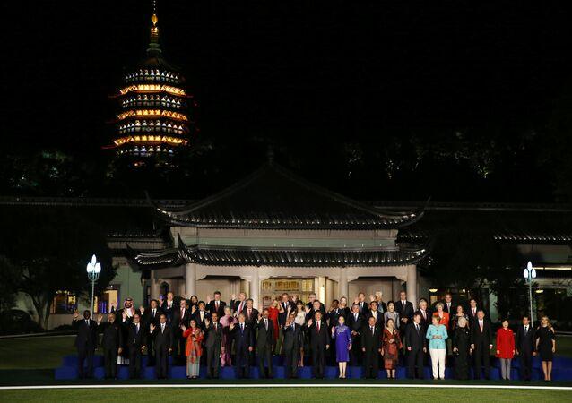 Líderes do G20 em Hangzhou, China, 2016