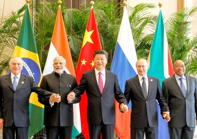 Presidente Michel Temer durante reunião do Brics, na China