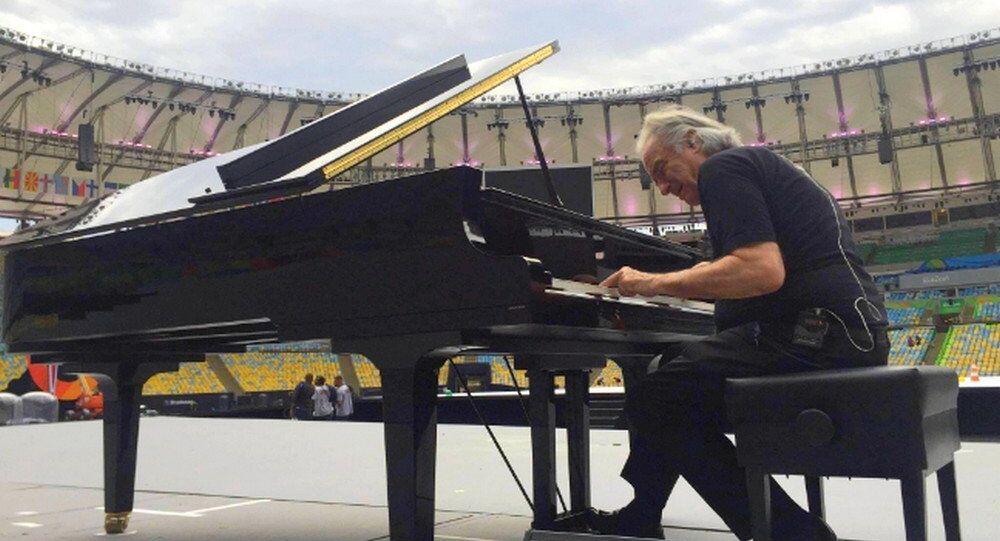 Maestro João Carlos Martins, vai tocar o hino brasileiro na abertura das Paralimpíadas