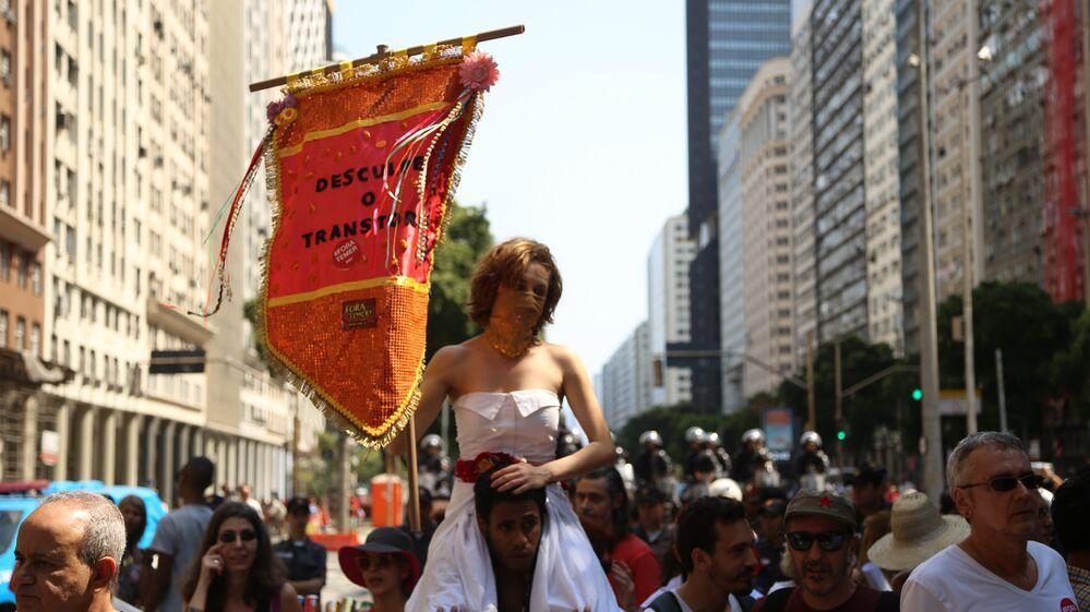 Marcha do Grito dos Excluídosno feriado de 7 de Setembro, no Rio de Janeiro