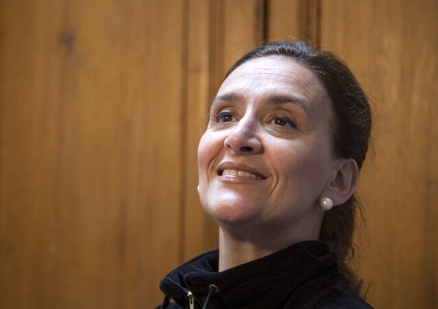 Gabriela Michetti, então candidata para vice de Mauricio Macri, em 10 de novembro de 2015