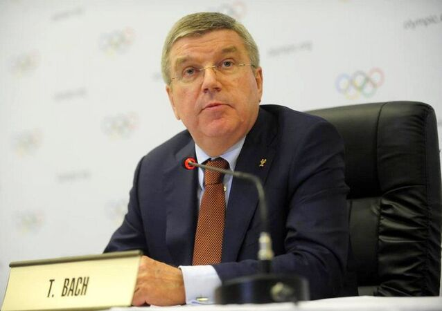 Presidente do COI, Thomas Bach