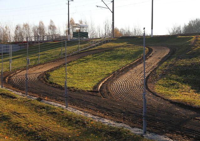 Posto de controle na fornteira entre a Bielorrússia e a Polônia na regiaõ de Brest, Bielorrússia (foto de arquivo)