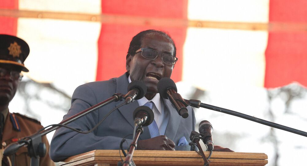 Presidente do Zimbábue, Robert Mugabe, em 27 de julho de 2016