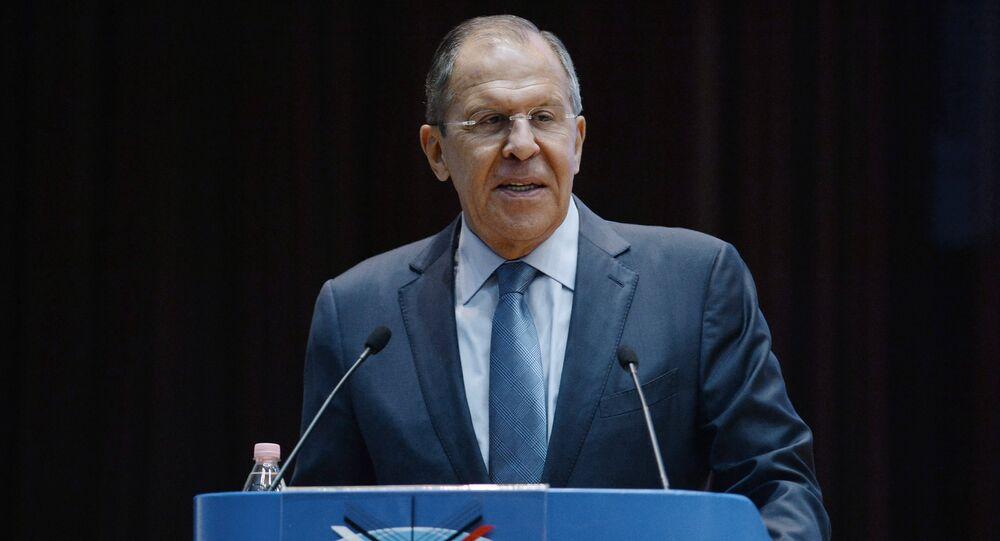O ministro das Relações Exteriores da Rússia, Sergei Lavrov