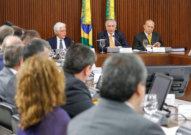 Presidente Michel Temer durante reunião do conselho do PPI