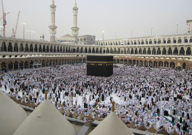 Caaba na cidade santa de Meca, Arábia Saudita