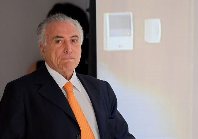 Presidente do Brasil, Michel Temer, em foto no Palácio do Planalto em 13 de setembro de 2016