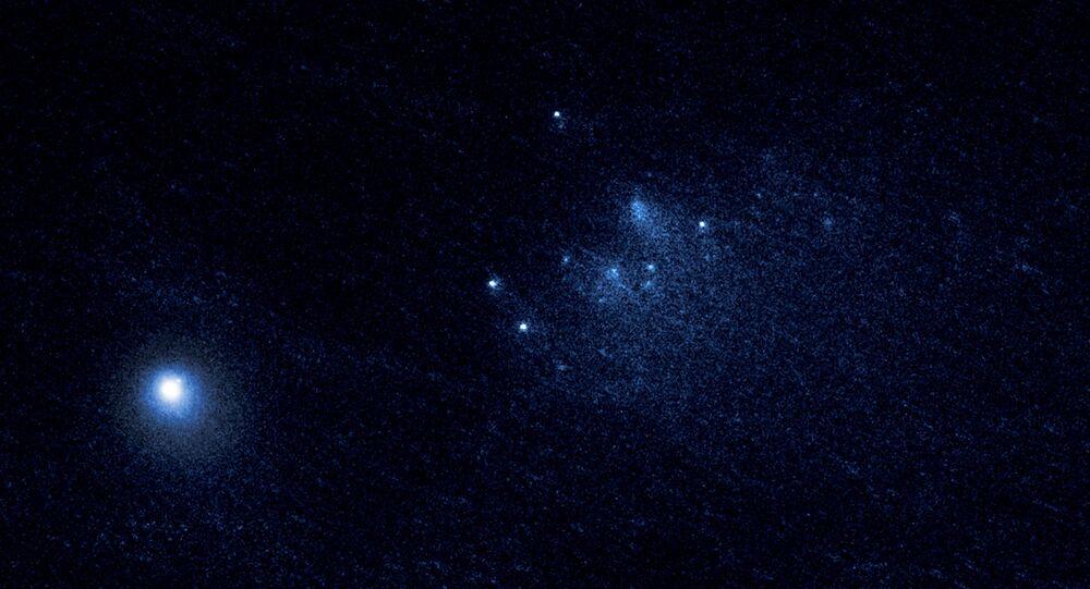 Imagem do cometa tirado pelo telescópio do observatório Hubble, da NASA