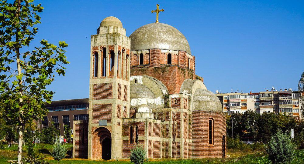 Igreja ortodoxa do Cristo Salvador em Pristina, capital de Kosovo