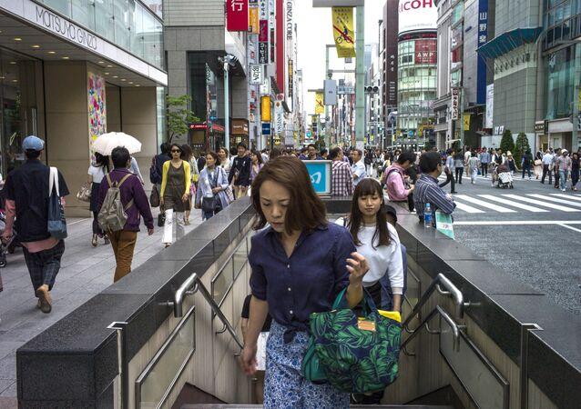 Cidadãos japoneses em Tóquio, arquivo