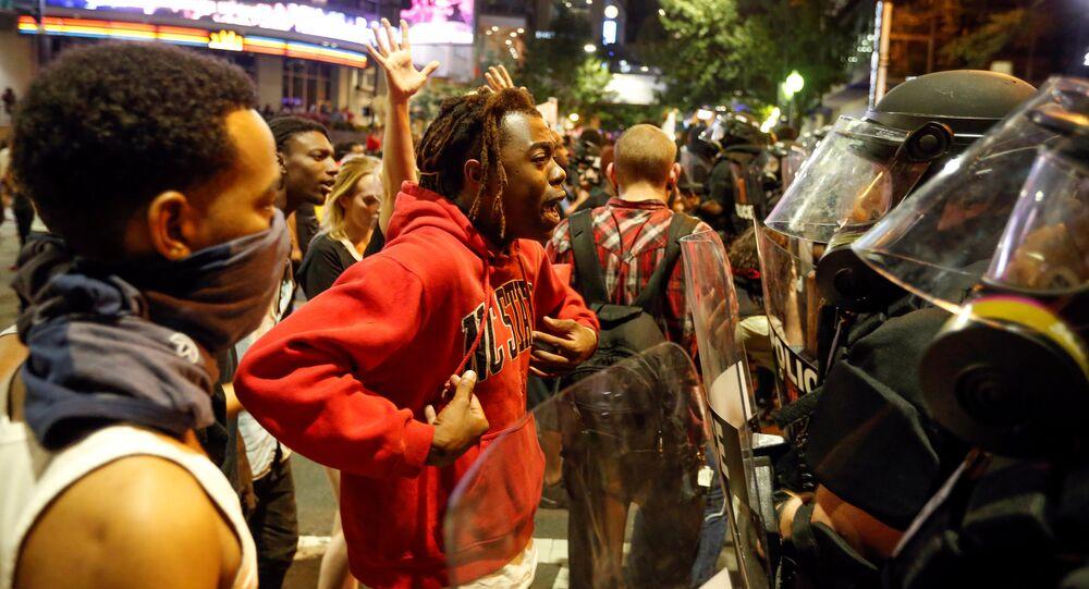 Protesto em Charlotte, Carolina do Norte