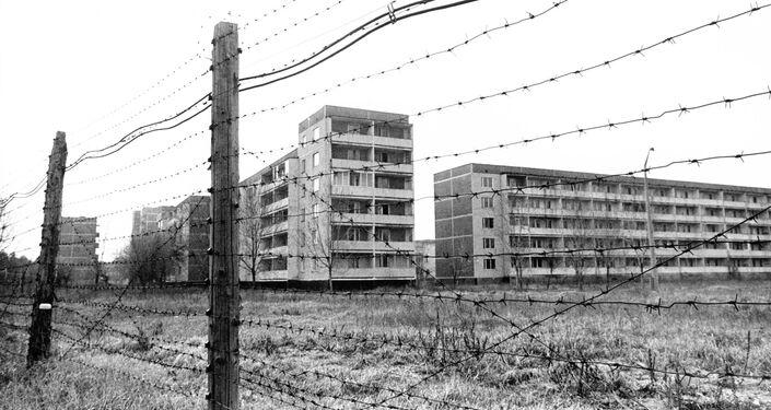 Casas abandonadas em Chernobyl