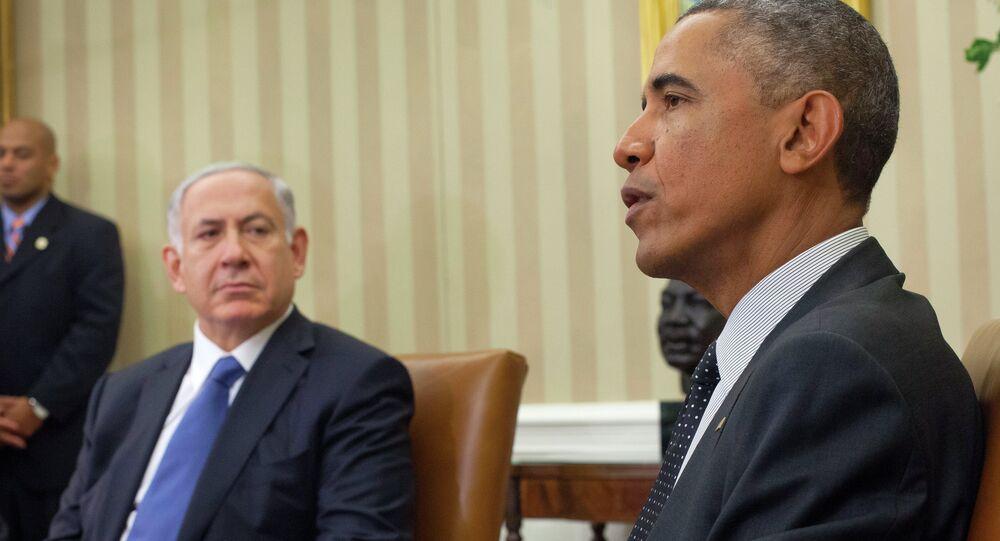 Presidente dos EUA Barack Obama e Primeiro-Ministro de Israel Benjamin Netanyahu