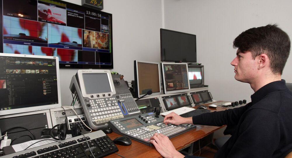 Estúdio da ATR, antiga TV tártara da Crimeia