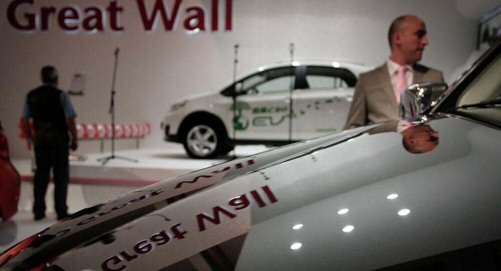 Carros da Great Wall em exposição no Salão Automotivo de Sófia