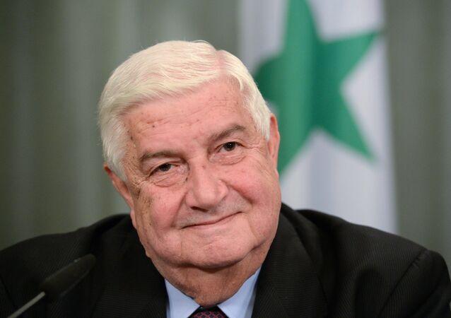 Ministro das Relações Exteriores da Síria, Walid Muallem.