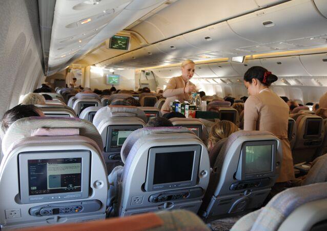 dentro da uma aeronave da empresa Emirates Airlines (arquivo)