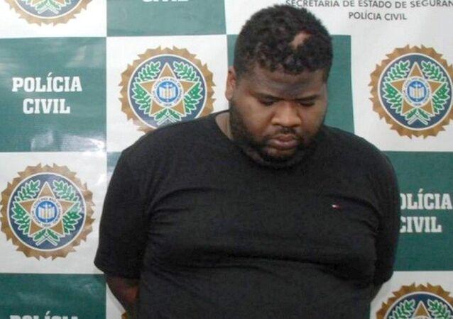 Traficante Fat Family ao ser preso em Junho no Rio