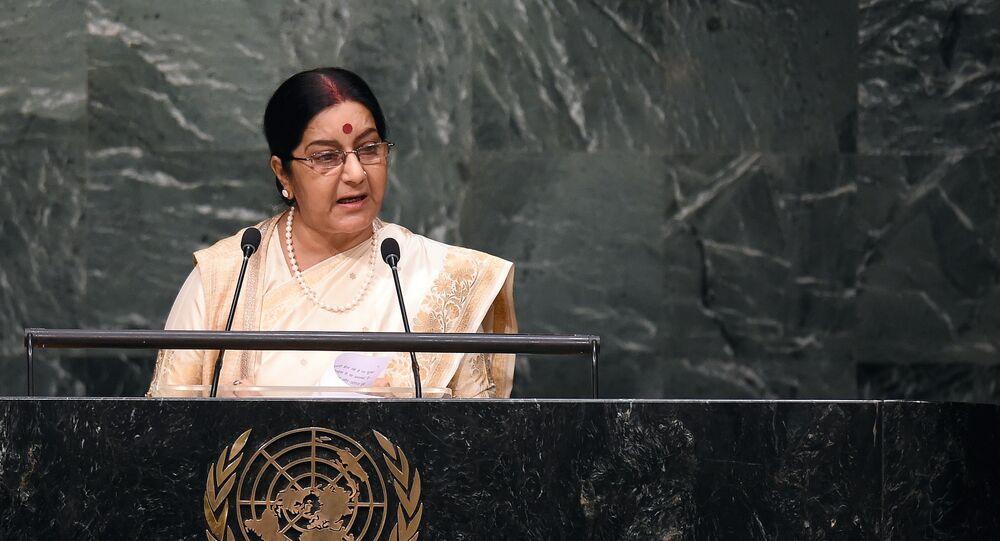 Sushma Swaraj, ministra das Relações Exteriores da Índia