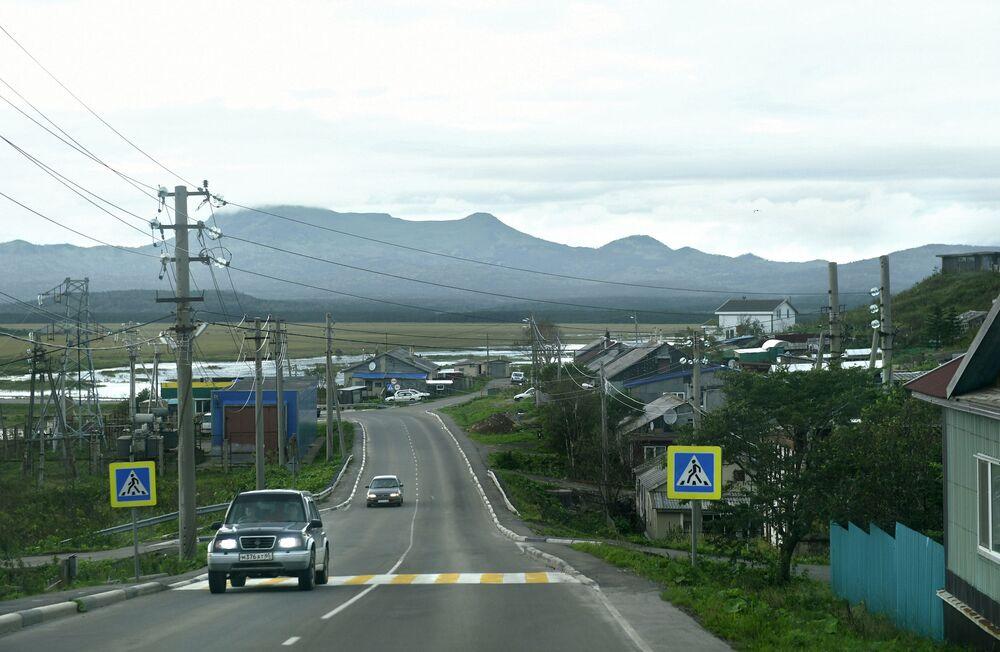 Yuzhno-Kurilsk, ilha Kunashir