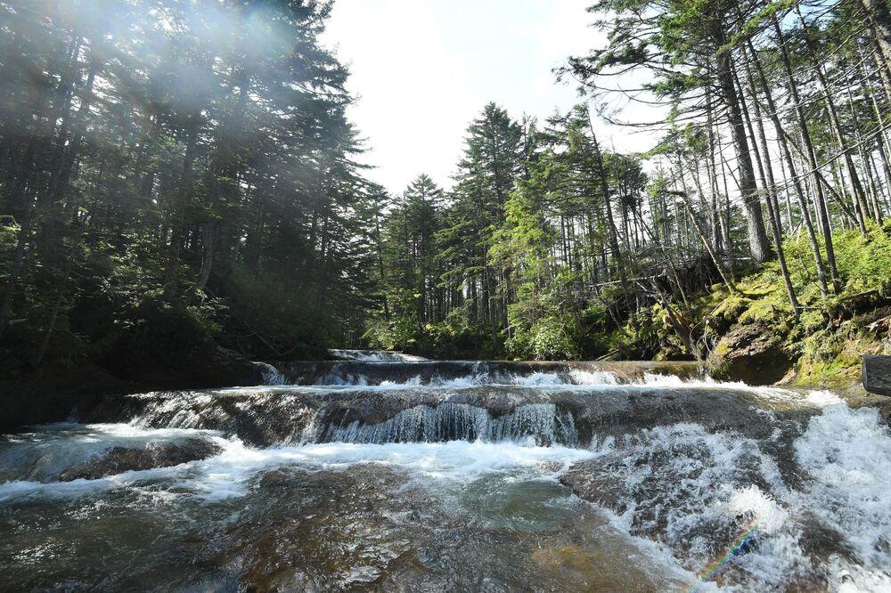 Cachoeira na Ilha Kunashir