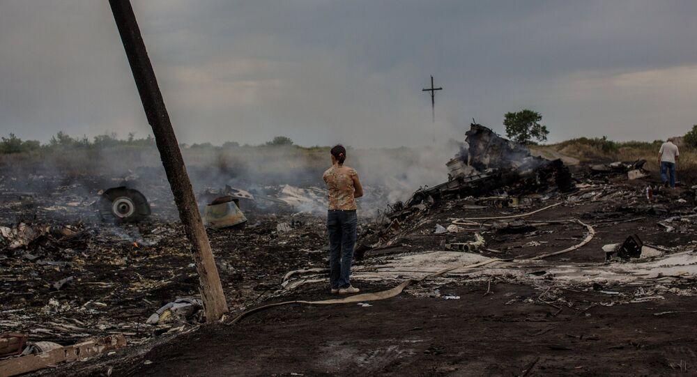 Destroços do Boeing 777 malaio na região de Donetsk, no leste ucraniano