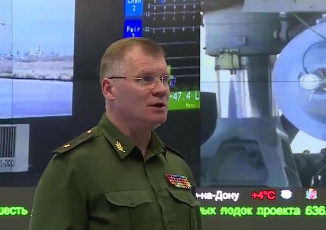 Major General Igor Konashenkov, porta-voz do Ministério da Defesa da Rússia