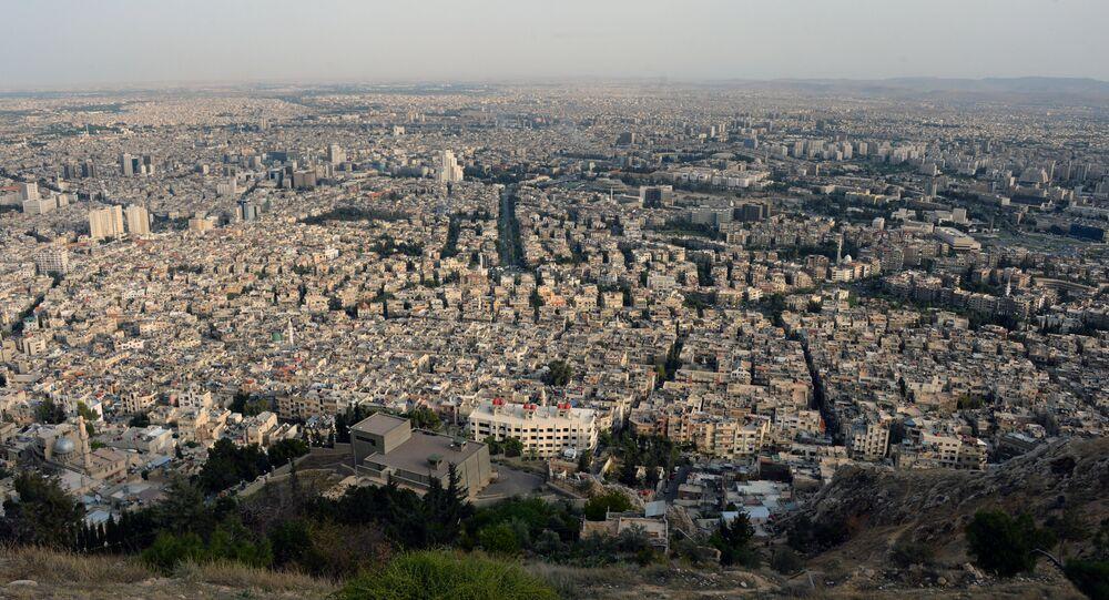 Vista de Damasco a partir da montanha Qasioun (arquivo)