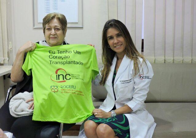 Ivonette Balthazar e a Dra Jacqueline Sampaio, da Coordenação de Transplantes do Instituto Nacional de Cardiologia (INC)
