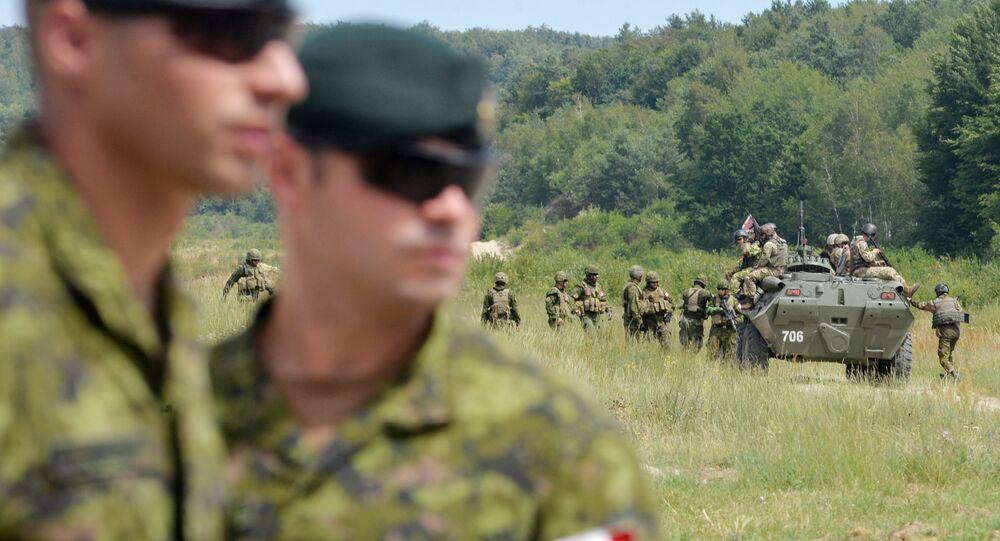 Instrutores militares canadenses observam exercícios militares ucranianos