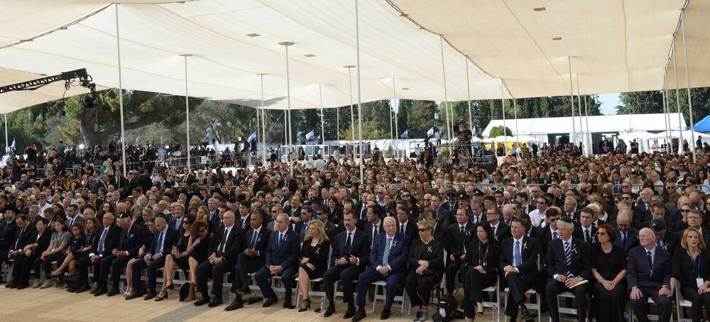 Autoridades internacionais participam do funeral do líder israelense Shimon Peres em Jerusalém