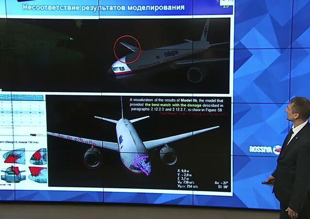 Coletiva do concerno Almaz-Antey e usina eletromecánica Lianozov sobre o relatório sobre a tragédia do voo MH17