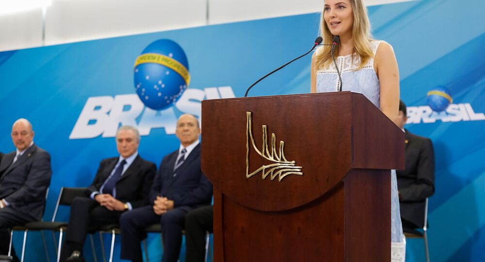 Presidente Michel Temer e a Primeira-dama Marcela Temer, durante cerimônia de Lançamento do Programa Criança Feliz, em Brasília