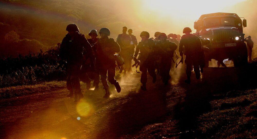 Militares em atividades de prontidão no Distrito Militar Oriental da Rússia (Arquivo)