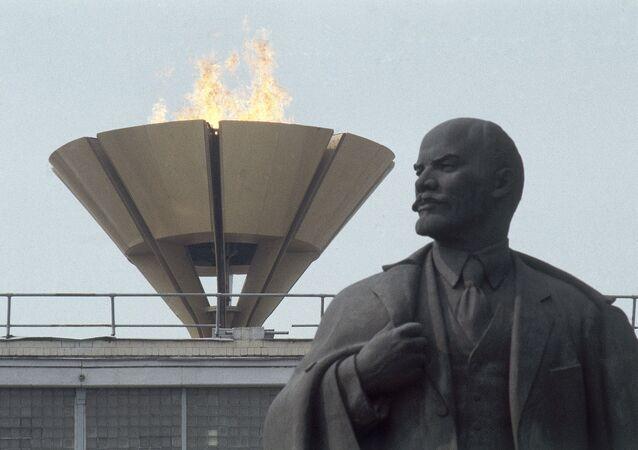 Estátua de Vladimir Lenin, líder da revolução russa, Moscou